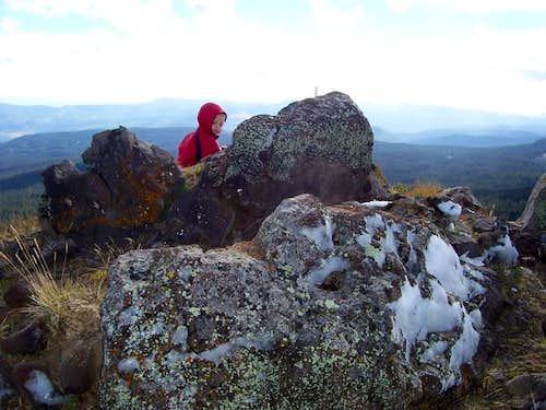 At the summit of Pagoda Peak...