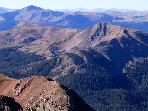 Uneva Peak, right center,...