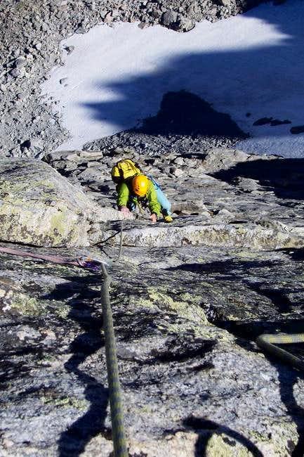 Excellent rock on North Arete...