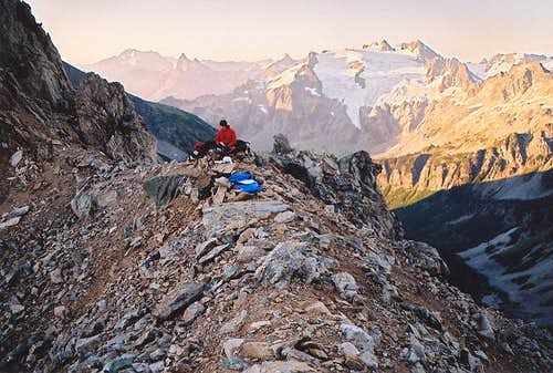 Our bivy at the western notch...