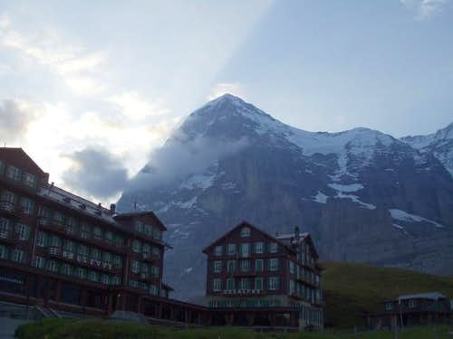 Eiger north-face at Sept. 2005