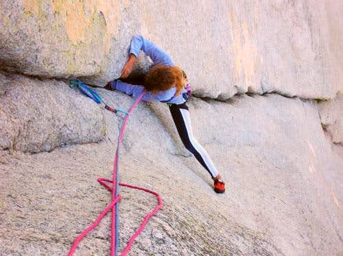 Just above the Crux....
