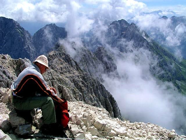 Peaceful rest on the summit...