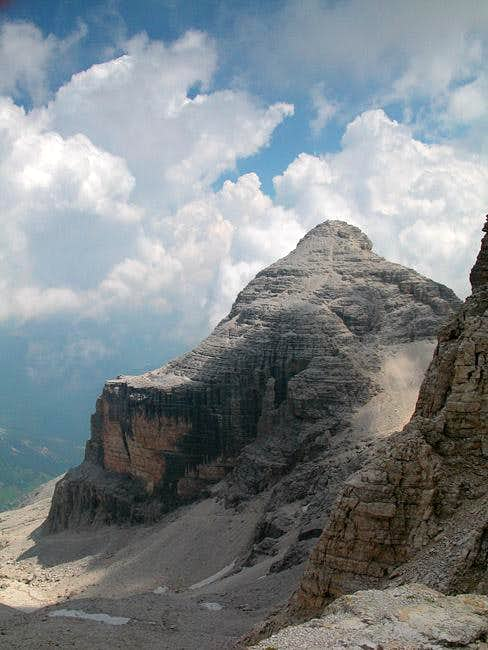 Cima Pisciadu (2985m) as seen...