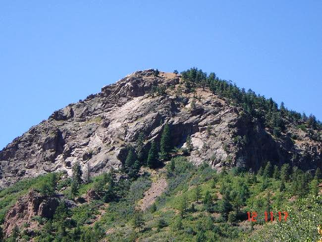 The east face of Mt. Cutler...
