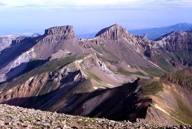 Coxcomb Peak (left) and...