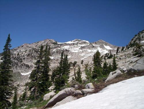 Lone Peak, as seen from the...