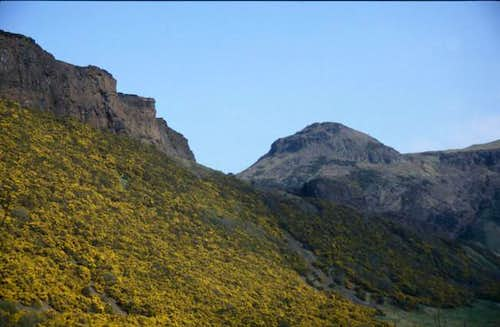 Arthur's Seat (right) and...