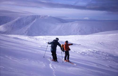 Descending Ben Macdui, with...