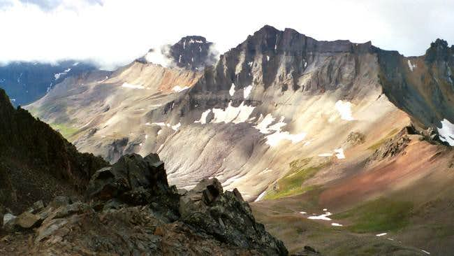 Gilpin Peak towers over the...