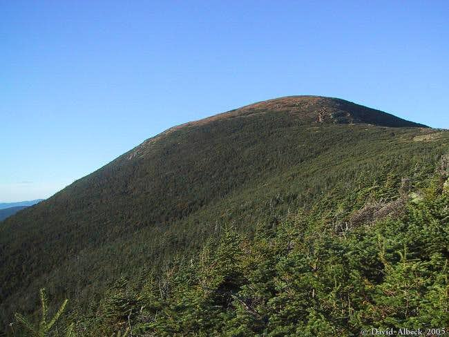 A close-up of the summit of...