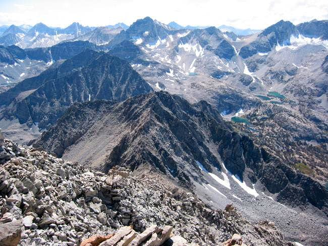 Little Lakes Peak and part of...