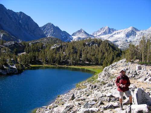 Little Lakes Peak on left...