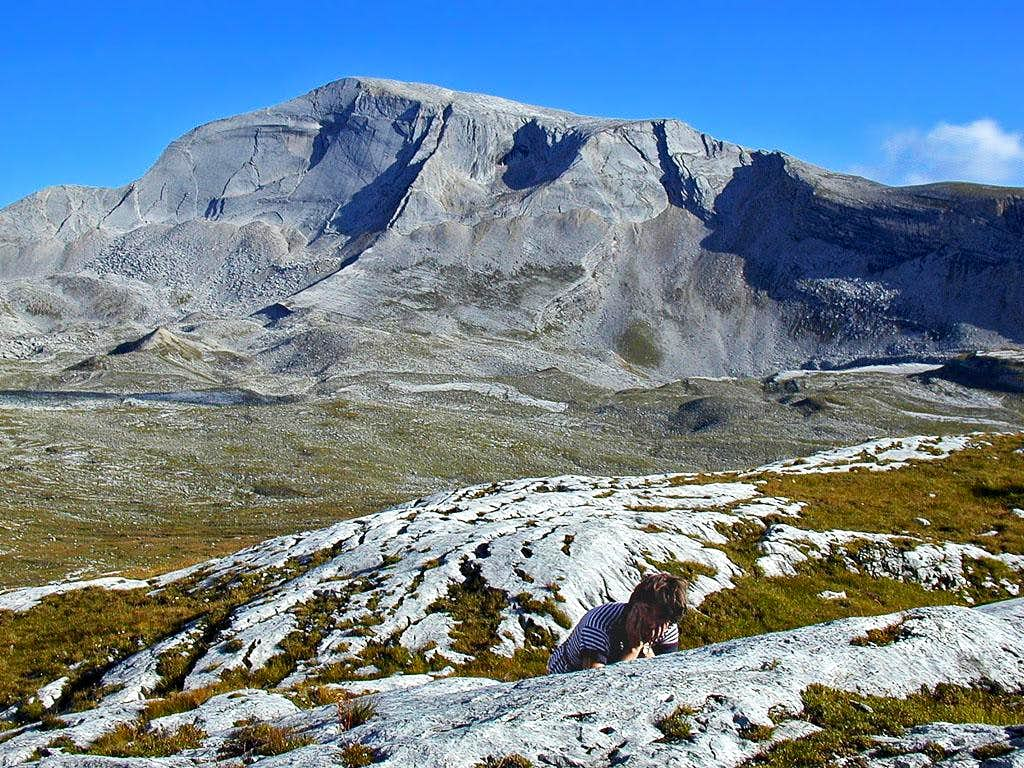 On the upper Fanes plateau....