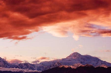 Mt. McKinley Stormy Sunset