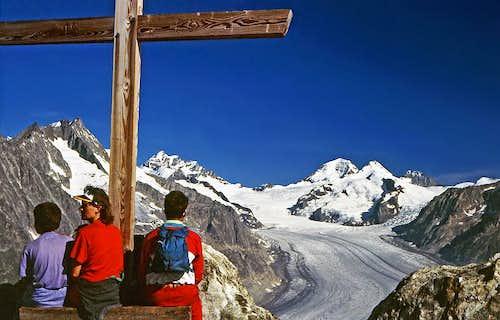 Eggishorn summit view -...