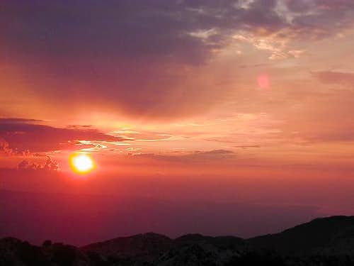 Biokovo sunset seen from the...