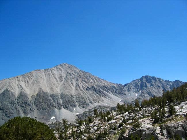 Little Lakes Peak on the...