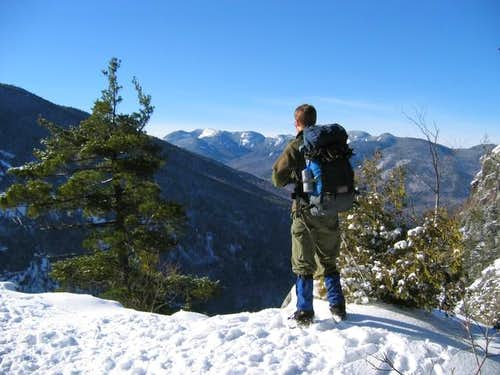 Ridge trail overlooking the...