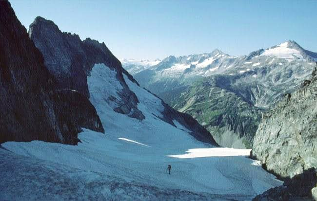 Looking back NW from Cache Col
