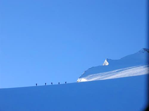 A group of climbers on their...