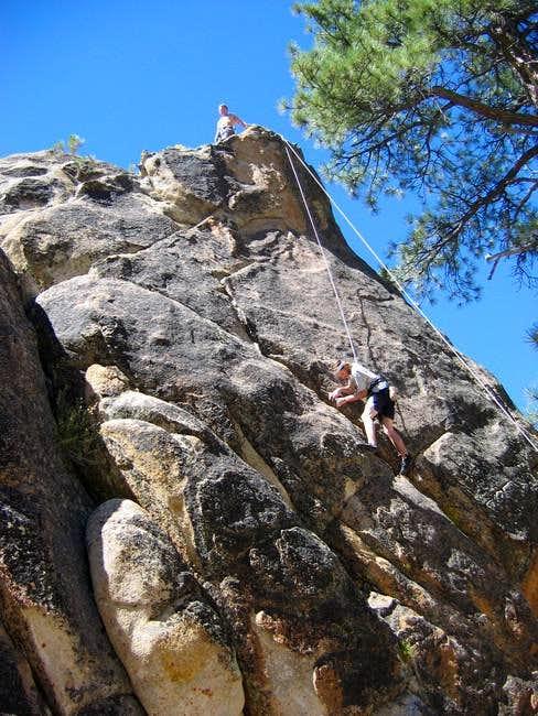 David climbing Hannibal...