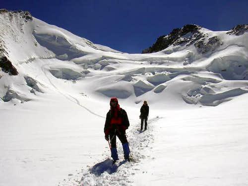 Dufourspitze - Route via Silbersattel
