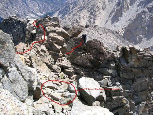 The final move to the summit....