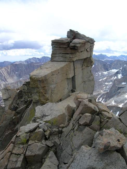 A closer view of the summit...