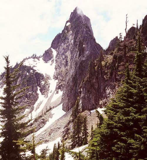The amazing spire of <a href=&quot;http://www.summitpost.org/mountain/rock/152705/kaleetan-peak.html&quot;><font color=&quot;blue&quot;>Kaleetan Peak</font></a>