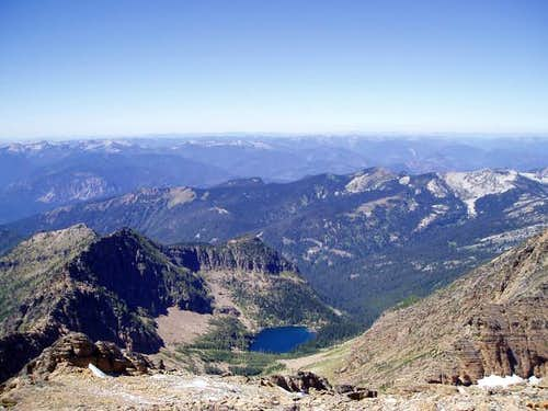 Snowshoe Lake from the summit...