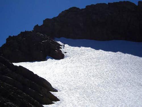 Climbers descending NE ridge...