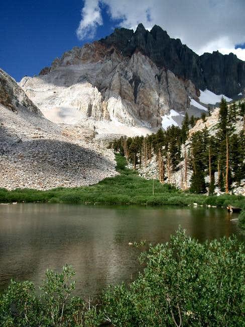 Split Mountain from Red Lake.