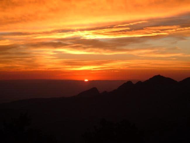 Sunrise over the La Madre...