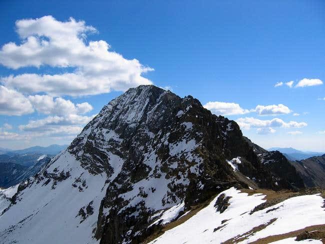Kent Peak from the saddle...