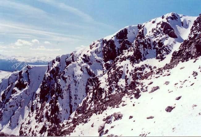 Jasper Peak and its steep...