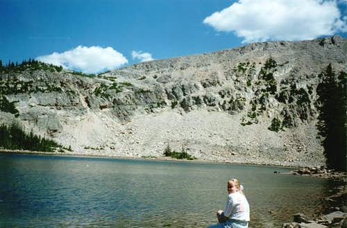 Kamas Lake and lower slopes...