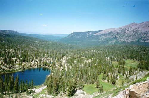 Cutthroat Lake as viewed from...