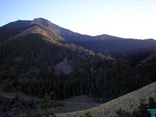 Blodgett as seen from trail...