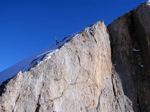 My friend Karl on the ridge...