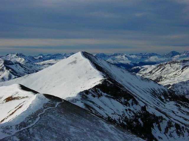 Sunshine Peak from the summit...