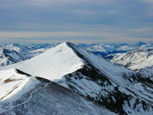 Sunshine Peak from the summit...