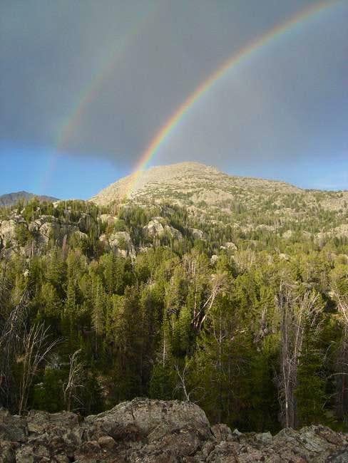 Double rainbow after an...
