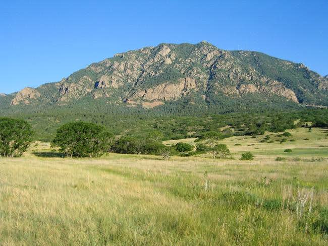 Cheyenne Mountain from the...