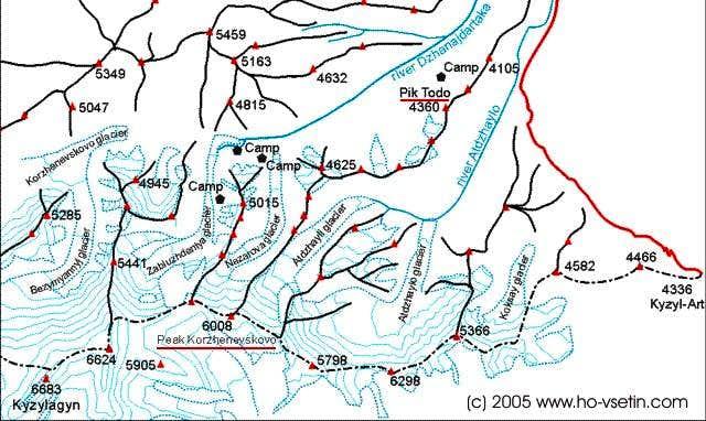 The map of Dzanajdartaka...