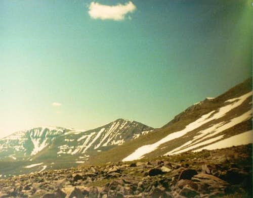 Mount Emmons (left) and Peak...