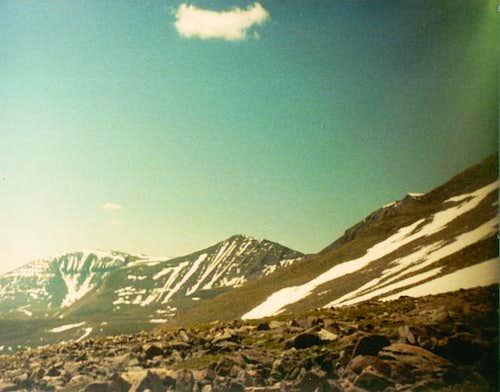 Mount Emmons (left) and Peak...