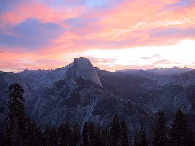 Sunrise over Half Dome from...