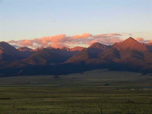Horn Peak (right) as seen...