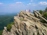 up on Humpback Rocks